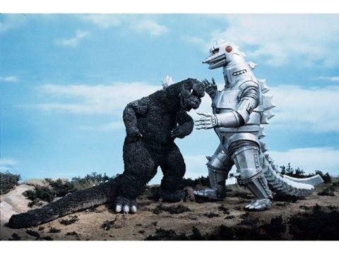 《哥吉拉對機械哥吉拉》電影畫面。