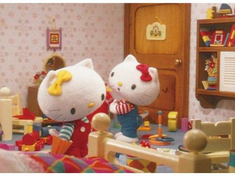 キティとミミィのあたらしいかさ