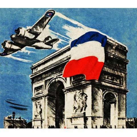 パリ解放 資料映像