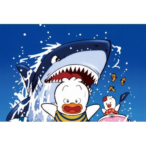 アヒルのペックルの水泳大会は大騒ぎ