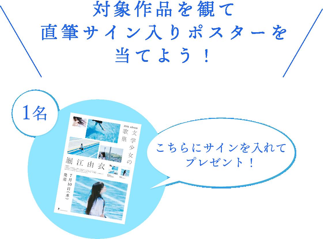 堀江由衣直筆サイン入りポスター