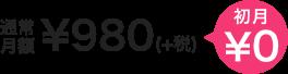 通常価格¥980(税込み)